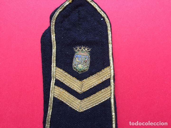 Militaria: Antigua HOMBRERA tela bordada (Policía Municipal Madrid; 1950's) ¡COLECCIONISTA! ¡Original! - Foto 2 - 168627784