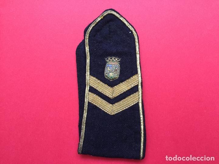 ANTIGUA HOMBRERA TELA BORDADA (POLICÍA MUNICIPAL MADRID; 1950'S) ¡COLECCIONISTA! ¡ORIGINAL! (Militar - Otros relacionados con uniformes )