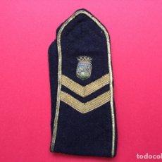 Militaria: ANTIGUA HOMBRERA TELA BORDADA (POLICÍA MUNICIPAL MADRID; 1950'S) ¡COLECCIONISTA! ¡ORIGINAL!. Lote 168627784