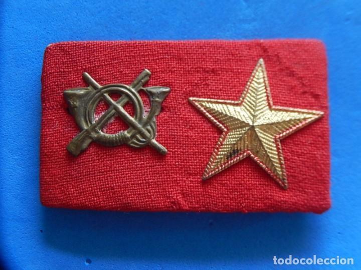 Militaria: Ejército Español. Pequeña galleta porta divisas para un subteniente de Infantería - Foto 2 - 169040460