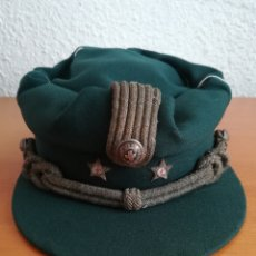 Militaria: GORRA TERESIANA CRUZ ROJA ÉPOCA FRANCO - TENIENTE EJÉRCITO GUARDIA CIVIL - GUASCH LÉRIDA TARRAGONA. Lote 169461930