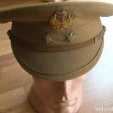 Militaria: GORRA DE TENIENTE. PLATO ALZADO. MODELO REGLAMENTO DEL 43. AÑOS 40. CASA LA BURGALESA DE MADRID.. Lote 170423396