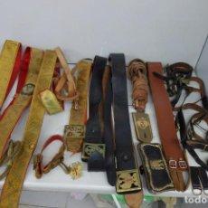 Militaria: GRAN LOTE DE CINTURONES DE GALA DE TODO TIPO DE HEBILLAS, ETC. Lote 170710485