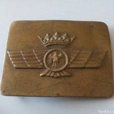 Militaria: HEBILLA EJÉRCITO AIRE ÉPOCA FRANCO AÑOS 40. Lote 171244723