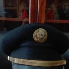 Militaria: GORRA DE PLATO AMERICANA EN PAÑO ANTIGUA.. Lote 171406035
