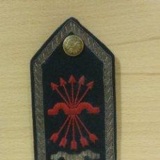 Militaria: HOMBRERA SECRETARIO PROVINCIAL DE FALANGE, FET-JONS, ENVÍO GRATIS, TELA BORDADA EN ORO BASE RÍGIDA. Lote 171433759