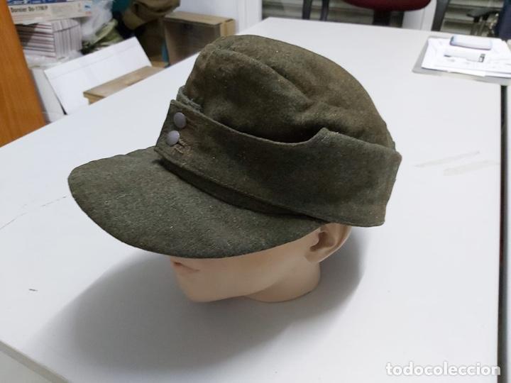 Militaria: Gorra alemana lana Feldgrau m43,talla 61 original - Foto 2 - 171466499