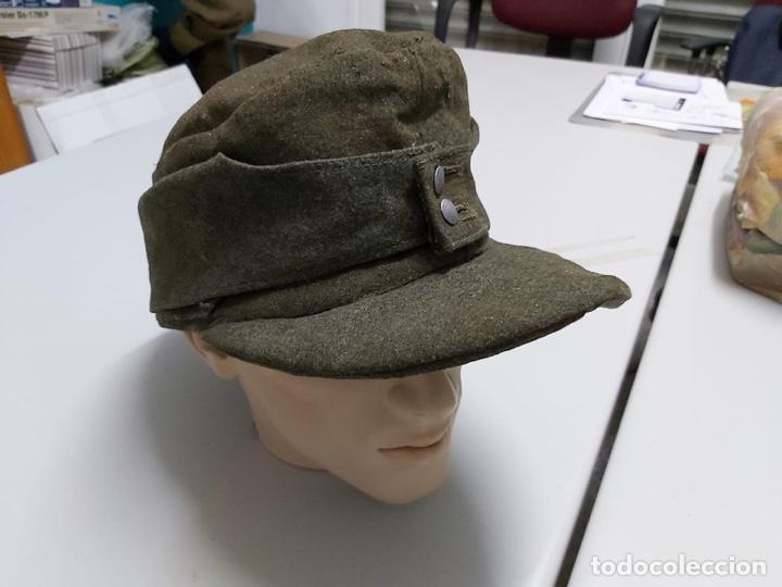 Militaria: Gorra alemana lana Feldgrau m43,talla 61 original - Foto 3 - 171466499