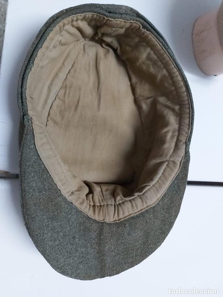 Militaria: Gorra alemana lana Feldgrau m43,talla 61 original - Foto 5 - 171466499