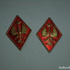 Militaria: 2 ROMBOS METALICOS EJERCITO DE TIERRA. Lote 171595229