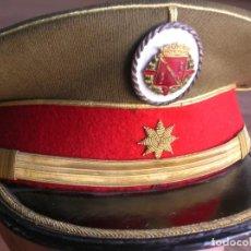Militaria: EXCEPCIONAL Y MUY ESCASA GORRA DE COMANDANTE DE LA GUARDIA DEL CAUDILLO GENERALISIMO FRANCO.. Lote 171989599