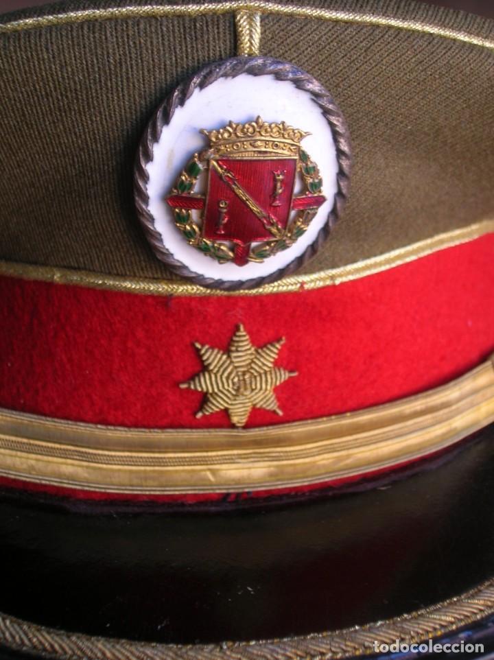 Militaria: EXCEPCIONAL Y MUY ESCASA GORRA DE COMANDANTE DE LA GUARDIA DEL CAUDILLO GENERALISIMO FRANCO. - Foto 5 - 171989599