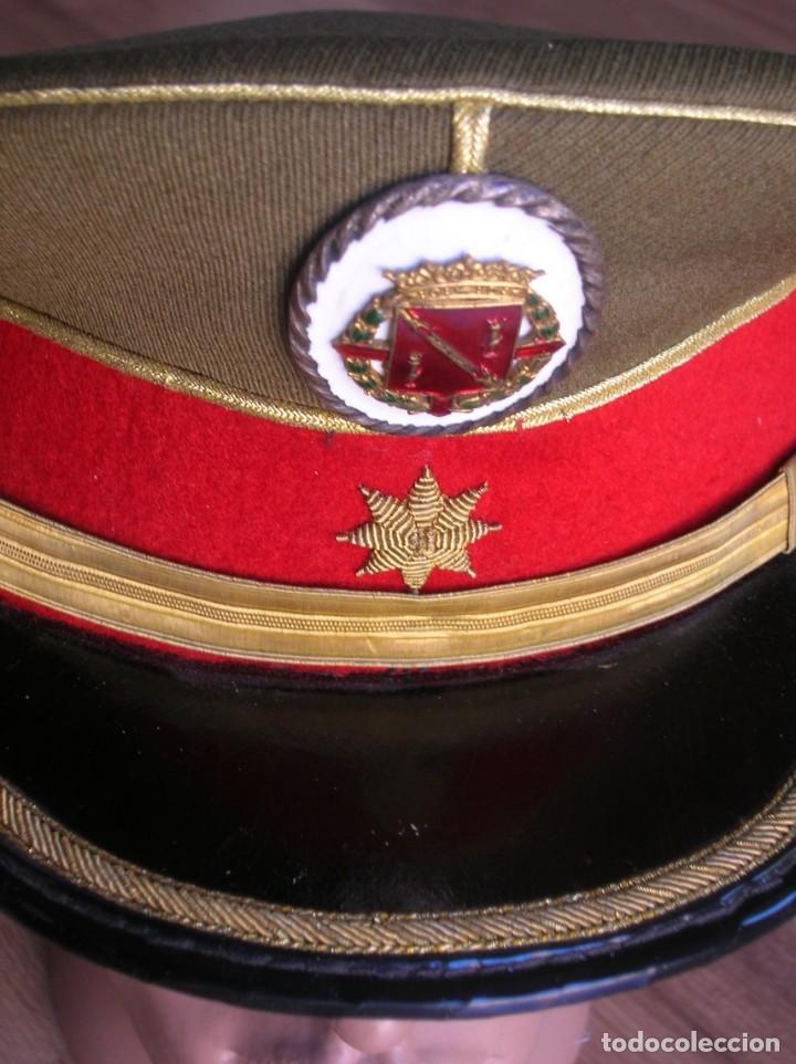 Militaria: EXCEPCIONAL Y MUY ESCASA GORRA DE COMANDANTE DE LA GUARDIA DEL CAUDILLO GENERALISIMO FRANCO. - Foto 15 - 171989599