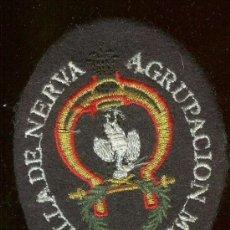 Militaria: PARCHE DE TELA BORDADO AGRUPACIÓN MUSICAL VILLA DE NERVA. CON IMPERDIBLE. Lote 172204144