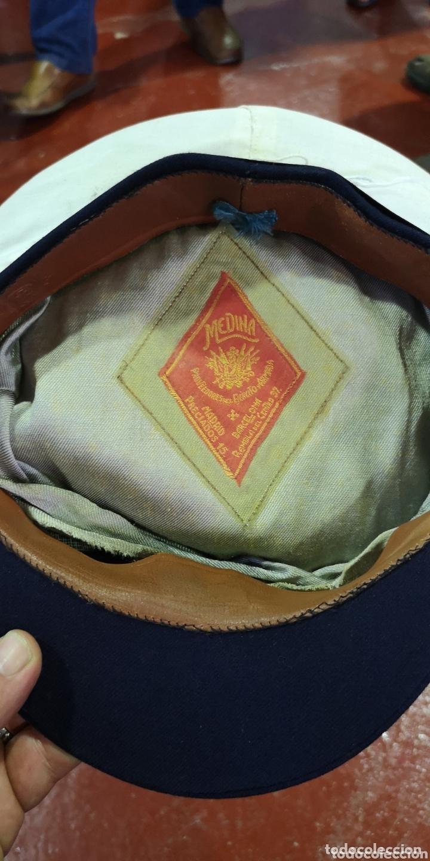 Militaria: Gorra de plato marina de guerra española armada época Alfonso XIII, la galleta es época de Franco - Foto 3 - 172841714