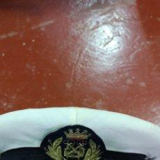 Militaria: GORRA DE PLATO MARINA DE GUERRA ESPAÑOLA ARMADA ÉPOCA ALFONSO XIII, LA GALLETA ES ÉPOCA DE FRANCO. Lote 172841714