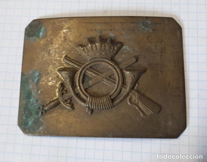 HEBILLA DE INFANTERÍA, ÉPOCA DE FRANCO, SIN TERMINAR (Militar - Cinturones y Hebillas )