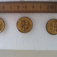 Militaria: 3 BOTONES ESCUDO, AGUILA CORONA, 2,3 CM UNIFORM BUTTONS BOUTONS. Lote 173591833