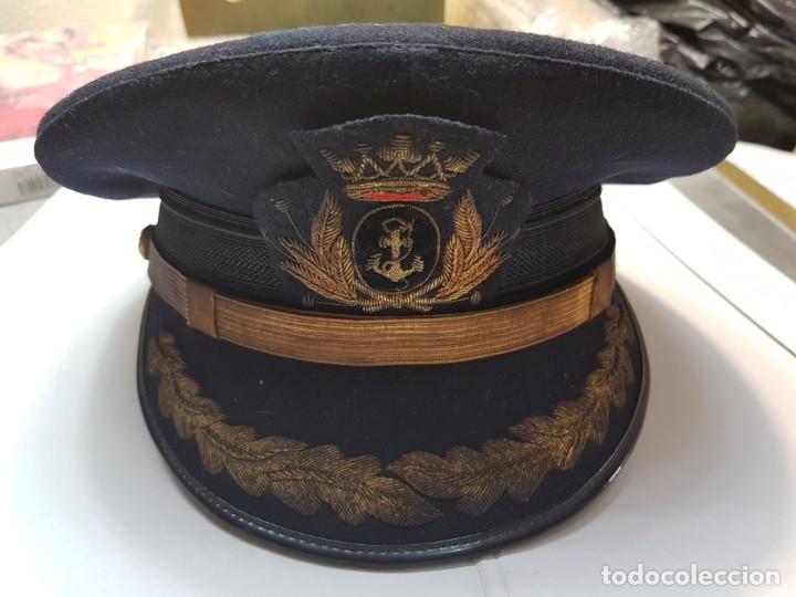 GORRA ANTIGUA DE ALMIRANTE MARCA MEDINA TOTALMENTE ORIGINAL Y USADA (Militar - Boinas y Gorras )