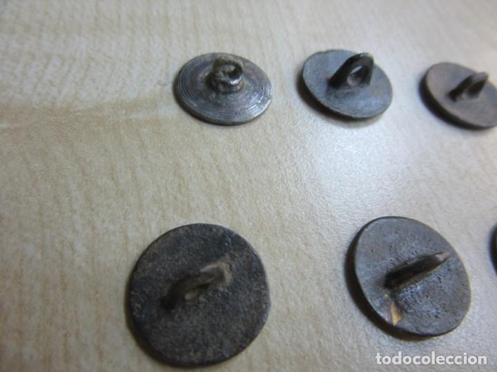 Militaria: 10 botones lisos s XVIII -XIX - Foto 5 - 175994807
