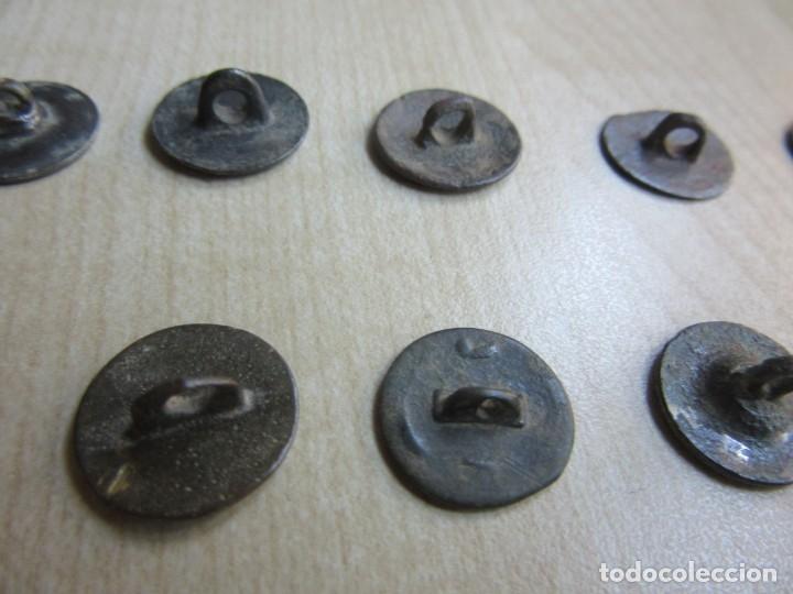 Militaria: 10 botones lisos s XVIII -XIX - Foto 6 - 175994807