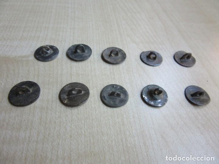 Militaria: 10 botones lisos s XVIII -XIX - Foto 8 - 175994807