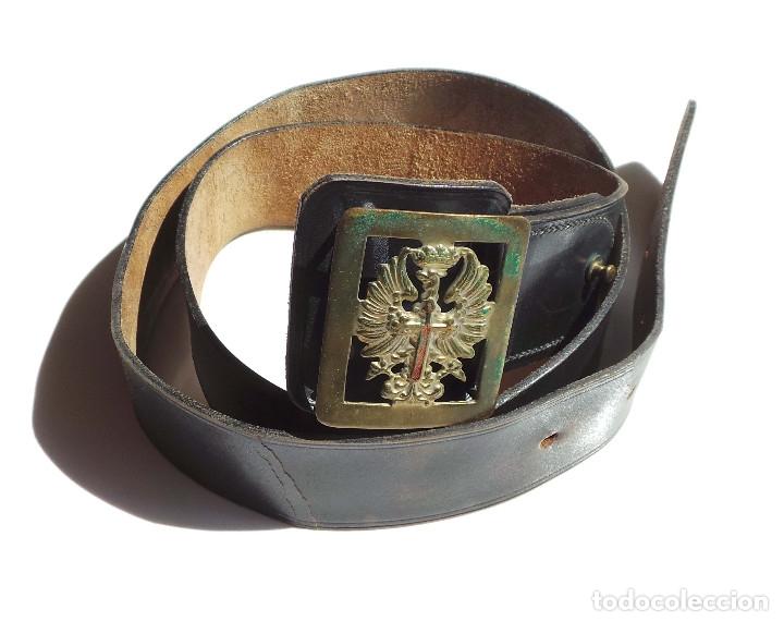CINTURON DE CUERO MILITAR (Militar - Cinturones y Hebillas )