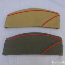 Militaria: * LOTE 2 ANTIGUO GORRILLO ESPAÑOL, UNO DE GUARDIA CIVIL Y EL OTRO MILITAR. ORIGINALES. ZX. Lote 176212817