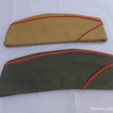 Militaria: * LOTE 2 ANTIGUO GORRILLO ESPAÑOL, UNO DE GUARDIA CIVIL Y EL OTRO MILITAR. ORIGINALES. ZX. Lote 176213042