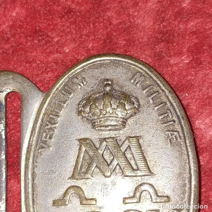 Militaria: 3 HEBILLAS. METAL PLATEADO. ESPAÑA (?). SIGLOS XIX-XX - Foto 3 - 176271919