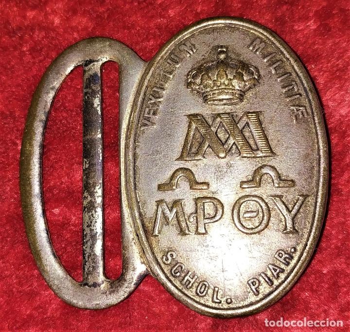 3 HEBILLAS. METAL PLATEADO. ESPAÑA (?). SIGLOS XIX-XX (Militar - Cinturones y Hebillas )