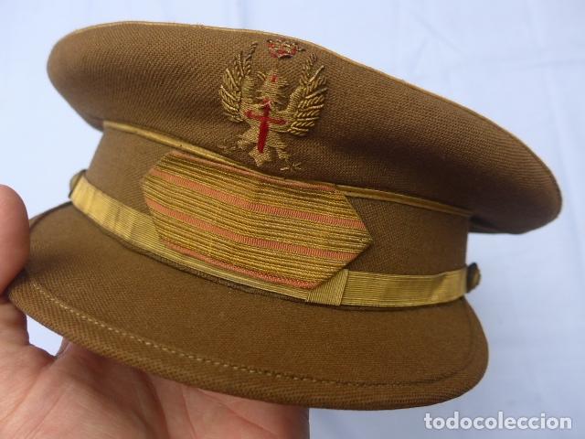 Militaria: * Antigua gorra de sargento franquista, epoca de Franco, original. ZX - Foto 3 - 194361940