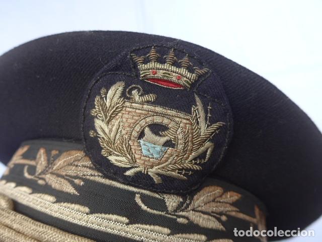 Militaria: * Antigua gorra de puertos canales y caminos franquista, epoca de Franco, original. ZX - Foto 2 - 176642708