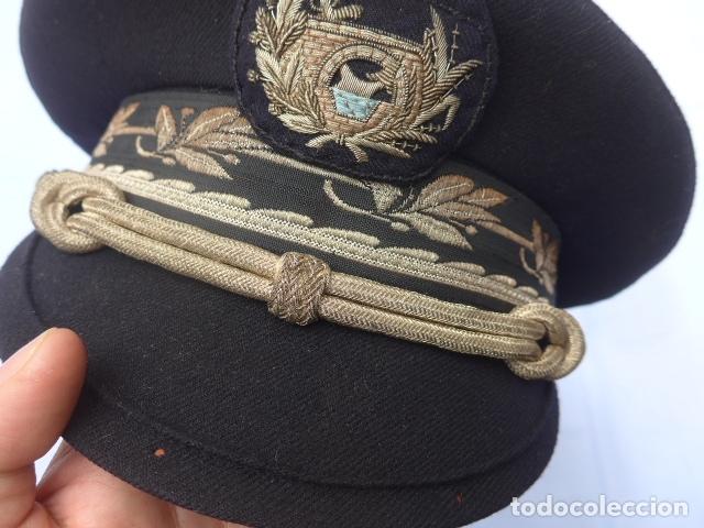 Militaria: * Antigua gorra de puertos canales y caminos franquista, epoca de Franco, original. ZX - Foto 3 - 176642708