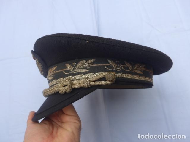 Militaria: * Antigua gorra de puertos canales y caminos franquista, epoca de Franco, original. ZX - Foto 4 - 176642708