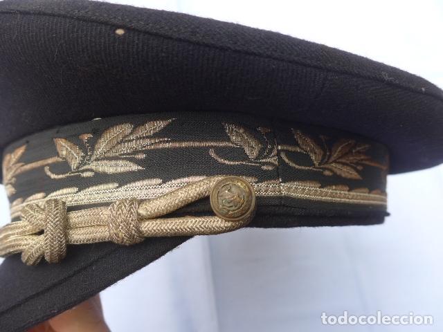 Militaria: * Antigua gorra de puertos canales y caminos franquista, epoca de Franco, original. ZX - Foto 5 - 176642708