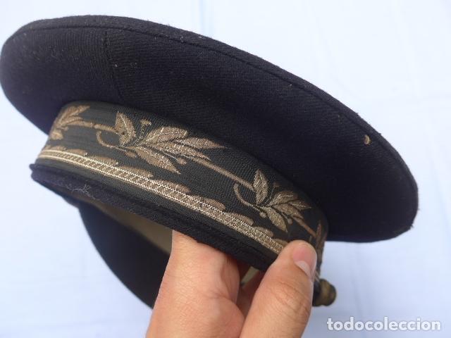 Militaria: * Antigua gorra de puertos canales y caminos franquista, epoca de Franco, original. ZX - Foto 7 - 176642708