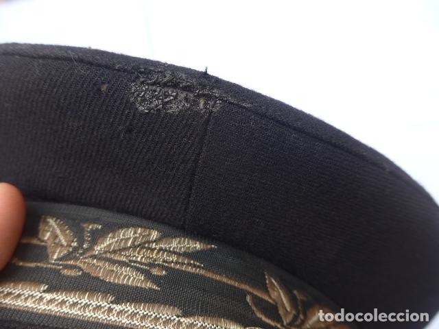 Militaria: * Antigua gorra de puertos canales y caminos franquista, epoca de Franco, original. ZX - Foto 8 - 176642708