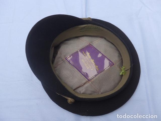 Militaria: * Antigua gorra de puertos canales y caminos franquista, epoca de Franco, original. ZX - Foto 12 - 176642708