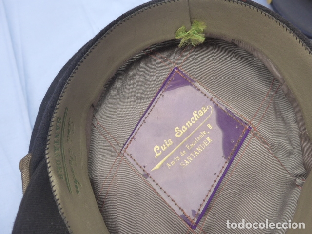 Militaria: * Antigua gorra de puertos canales y caminos franquista, epoca de Franco, original. ZX - Foto 14 - 176642708