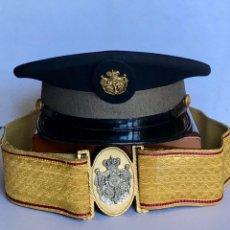 Militaria: SEMANA SANTA SEVILLA. GORRA Y FAJÍN EXTINTA BANDA DE LA EXALTACIÓN. Lote 176648313