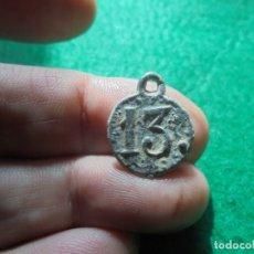 Militaria: BONIRA MEDALLA CON EL NUMERO 13 BATALLON DE INFANRERIA, GUERRAS NAPOLEONICAS . Lote 176913684