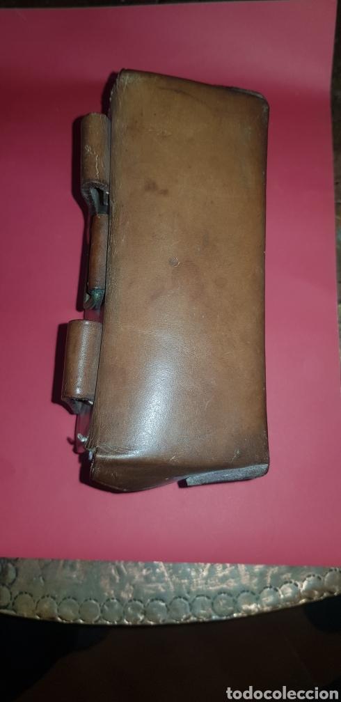 Militaria: Cartucherin en cuero marrón época República - Foto 2 - 177392313