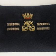 Militaria: PARCHE DE TELA CON EMBLEMA BORDADO PARA UNIFORME DE MARINA . EPOCA FRANQUISTA . FRENTE 16,7 CM. Lote 177759290