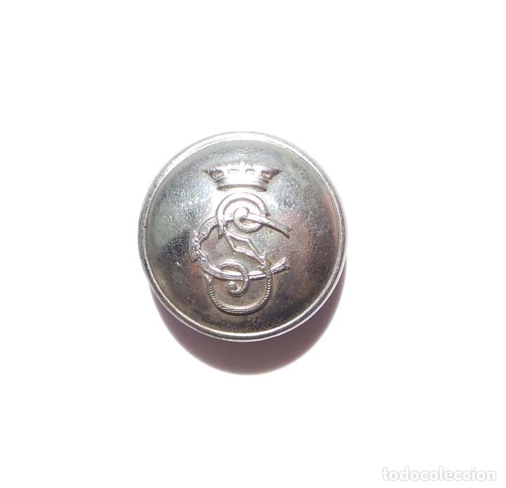 Militaria: BOTÓN DEL CUERPO DE SEGURIDAD ÉPOCA DE FRANCO.- 2,4 CM DE DIÁMETRO - Foto 3 - 177794970