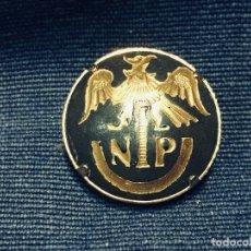 Militaria: BOTON SOLAPA AGUILA NP DAMASQUINADO TOLEDO. Lote 177946524