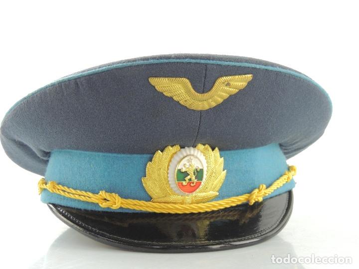 ANTIGUO GORRO DE OFICIAL DE FUERZAS AÉREAS AUTENTICO DE LA ERA COMUNISTA MUY BUEN ESTADO RARO (Militar - Boinas y Gorras )