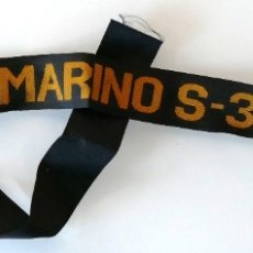 Militaria: ARMADA ESPAÑOLA. CINTA DE LEPANTO. SUBMARINO S33 NARCISO MONTURIOL. Lote 178261616