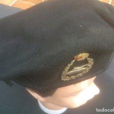 Militaria: BOINA NEGRA EJÉRCITO DE TIERRA ESPAÑOL CARROS DE COMBATE ACORAZADOS TALLA 59. Lote 178607738