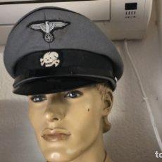 Militaria: GORRA ALEMANA SS PARA CAMPOS DE CONCENTRACION ,SECCION QUIMICA REPLICA BARATITA. Lote 179064703